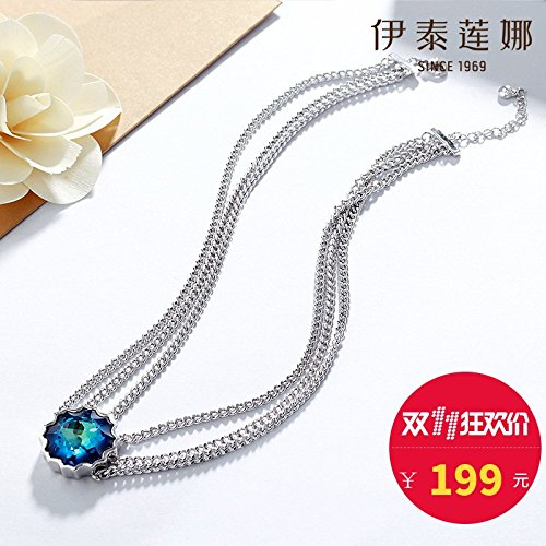 Generic Italina_ genuine _Austrian_ crystal necklace pendant women girl short _paragraph_ clavicle chain necklace pendant _Japan_and_South_ Korea personalized ()
