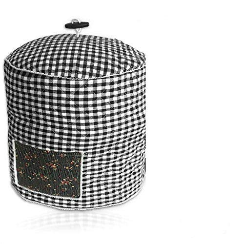 Debbiedoo's Pressure Cooker Cover - Custom Made Accessories - Fits 6 QT Instant Pot Models (Black and White Gingham)