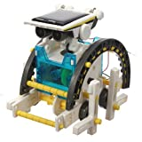 14-In-1 Solar Powered Transformer Robot DIY Assemble Kit by XoomBot