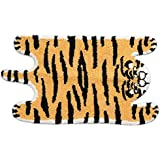 Cute Soft Tiger Shaped Animals Bath Mat Area Rug for Bedroom Bathroom Kitchen Floor Water Absorption Non-Slip Small Carpet Do