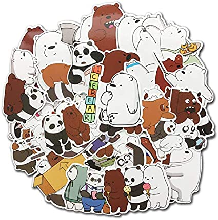 YLGG American Anime We Bare Bears Stickers Decals Pack para Niños ...