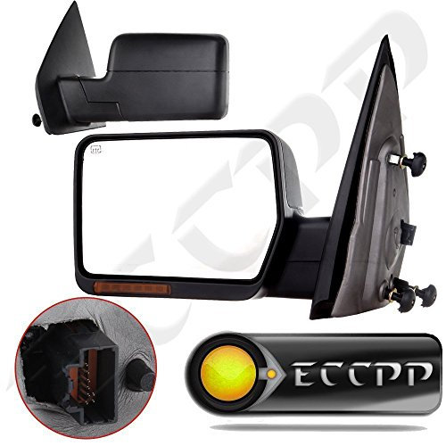 (ECCPP Towing Power Heated Turn Signal Tow Side Mirrors For 2004 2005 2006 Ford F150 Pickup Pair Left Right)
