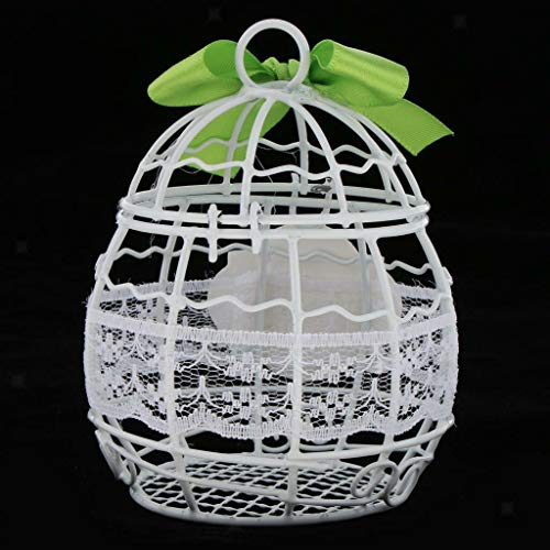 BROSCO Happy Wedding Day Candy Chocolate Favor Box w/Bowknot Decor Party Gift Box | Color - White + Green