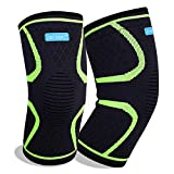 """Knee Brace, 2 Pieces Knee Compression Sleeve for Joint Pain & Arthritis Relief, Knee Sleeves with Breathable & Anti-Slip for Running, Hiking, Soccer & Recovery (S: 14""""-17""""(37cm-43cm))"""