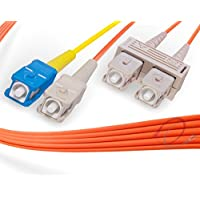 2M SC to SC Mode Conditioning Fiber Patch Cable | Fiber Optic SC Mode-Conditioning to SC Fiber Patch Cable 2 Meter (6.56ft) | Length Options: 1M-15M | FiberCablesDirect