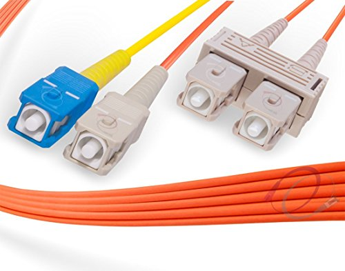 Cable Conditioning Fiber Patch Optic (15M SC to SC Mode Conditioning Fiber Patch Cable | Fiber Optic SC Mode-Conditioning to SC Fiber Patch Cable 15 Meter (49.21ft) | Length Options: 1M-15M | FiberCablesDirect)