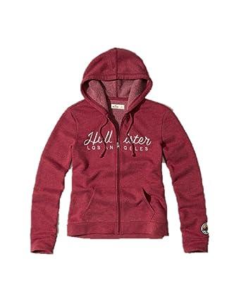 Hollister New Abercrombie - Sudadera con Capucha para Mujer, Talla M, Color Burdeos: Amazon.es: Ropa y accesorios