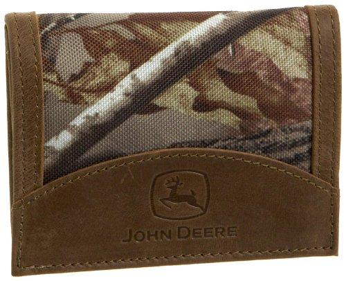 John Deere Men's Tri Fold Wallet in Gift Box, Camouflage, One Size