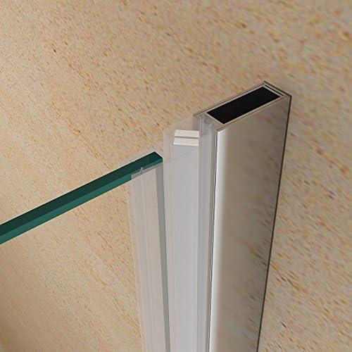 68//72 Porta doccia a soffietto libro cristallo 6mm trasparente e alluminio cromo h.190cm CLIO 70cm