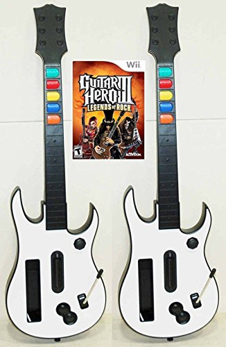 2 NEW Nintendo Wii GUITAR HERO Controllers and Guitar Hero 3 Video Game Kit bundle set 3 III (Best Guitar Hero Game)