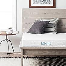 Lucid 5-Inch Gel Memory Foam Mattress, Dual-Layered, CertiPUR-US Certified, Firm Feel, Twin Size