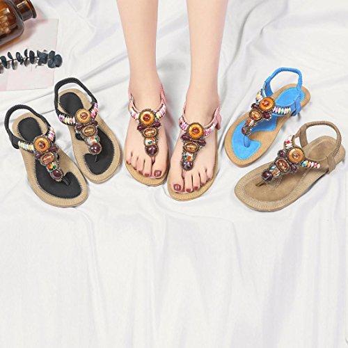 Sanfashion 144155 Sandali Donna Nero Damen Schuhe Bekleidung Multicolore qArPxzq4n