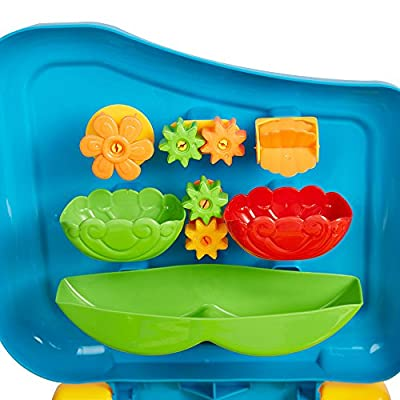COLOR TREE Sandbox Sand and Water Table Beach Toys Set Beach Play Table Sand for Children: Toys & Games