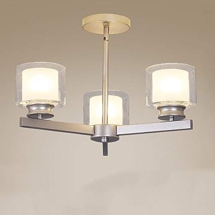 ZR Moderna lámpara de Techo con Tres Luces, Estilo nórdico ...