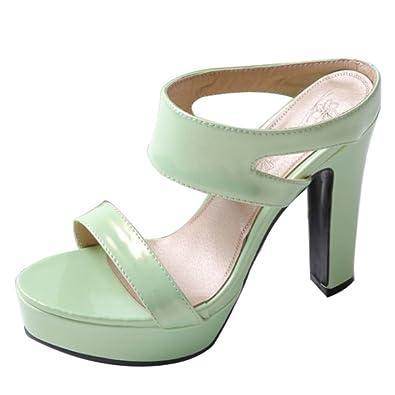 AicciAizzi Damen Open Toe Mules Schuhe Heels