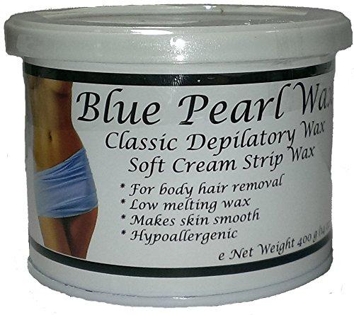 Blue Pearl Wax Crystal Lagoon Soft Wax (Strip) 400g (14 oz) Can