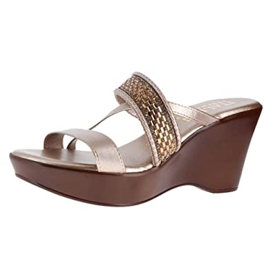 b9331edf5 ITALIAN Shoemakers Lucierne Rose Gold Womens Wedge Sandals Size 10M