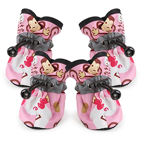 Price comparison product image YJYdada Comfortable Anti-slip Shoes Puppy Dog Cat Rain Boots (XL, Pink)