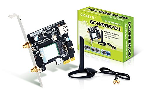 Gigabyte GC-WB867D-I REV Bluetooth 4.2/Wireless AC/B/G/N Band Dual Frequency 2.4Ghz/5.8Ghz Expansion (Dual Gig Desktop)