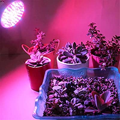 GOTD LED Grow Light, Full Spectrum Hydroponic Light Bulb High Luminosity & Low Power Consumption - Plant Grow Lights Greenhouse Garden Indoor Growing Flowers Plants Veg (Silver)