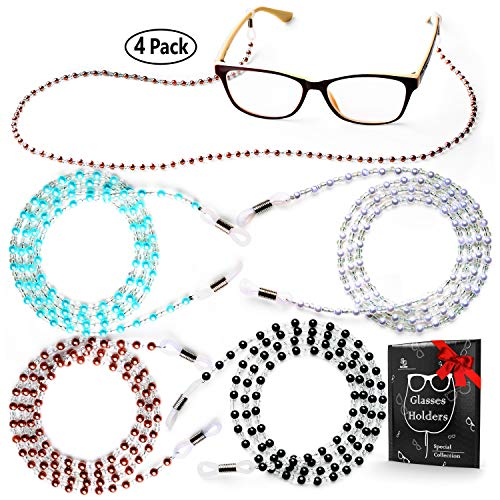 Eye Glasses String Holder - Premium Beaded Eyeglass Holders Around Neck - Eyeglass Chain Cord for Women