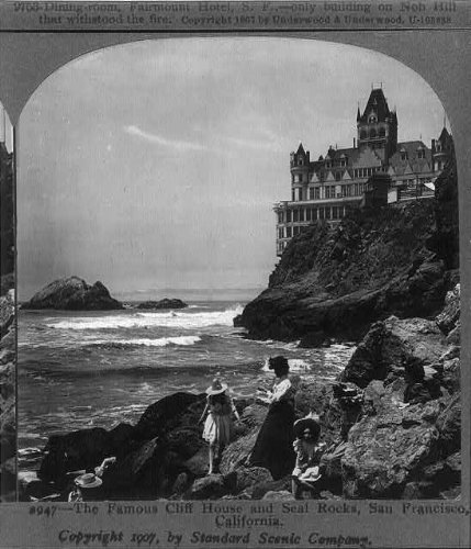 Photo: Famous Cliff House,Seal Rocks,San Francisco,California,CA,c1907,Young Girls (Outdoor San Furniture Francisco Ca)