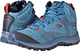 KEEN Women's Terradora Mid WP-w Hiking Shoe, Blue Coral/Fiery Red, 9 M US