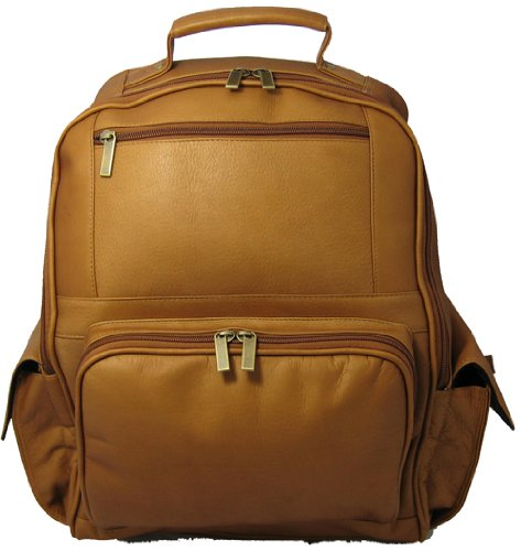 David King & Co. Large Computer Backpack, Tan, One Size by David King & Co