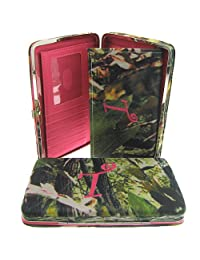 Canvas Camo Print Initial Flat Clutch Wallet - You Choose Your Initial