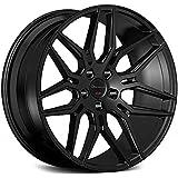 amazon 26 inch velocity vw12 wheels rims tire package black Chevy Tahoe vs GMC Yukon vs Cadillac Escalade 22 inch rims black rims staggered full set of 4 wheels made