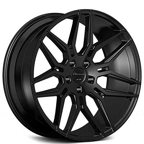 20 Inch Rims - Black Rims - STAGGERED - Set of 4 Wheels - Made for MAX Performance - Fits ALL Cars - Racing Wheels for Challenger, Mustang, Camaro, BMW, and More (20x9