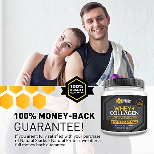Whey Protein Powder-Natural Stacks-Natural Whey + Collagen-30 Day (Vanilla) by Natural Stacks (Image #5)