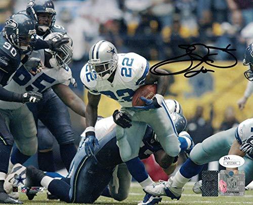 Emmitt Smith Autographed Signed Dallas Cowboys 8x10 Photo Vs Seahawks JSA