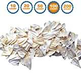123 Treats - White Cow Ears (100 Count) 100% Natural Animal Ears Dog Chews from Free Range Grass Fed Cattle with No Hormones, Additives or Chemicals