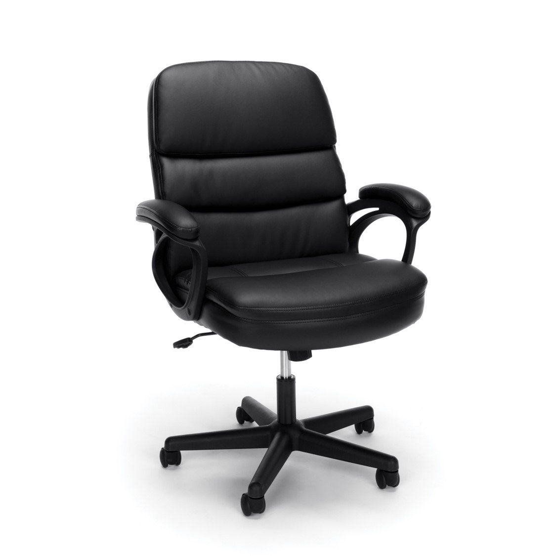 Essentials by OFM Leather Executive Chair, Ergonomic Managers Computer/Office Chair, Black (ESS-6025)