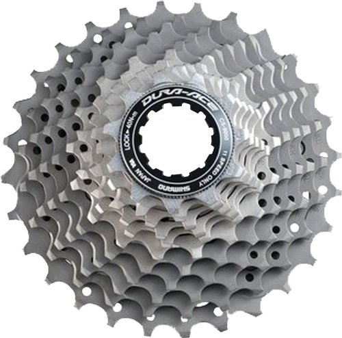Shimano Dura Ace CS-9000 11-Speed Cassette (Grey, 12-25T) (Cassette Bicycle Titanium Road)