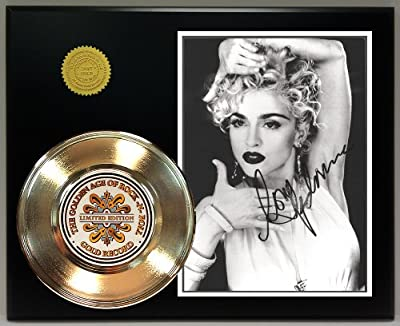 Madonna Gold Record Signature Series LTD Edition Display by Gold Record Outlet