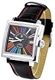 michel Jurdain watch sports diamond leather Square Face automatic multi-color index EG-5500-2 Men's