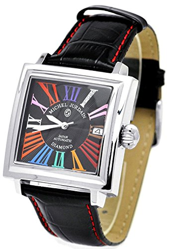 michel Jurdain watch sports diamond leather Square Face automatic multi-color index EG-5500-2 Men's by michel Jurdain (Michel Jordan)