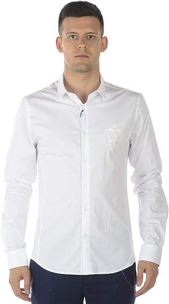 Versace Jeans - Camisa Hombre B1GRA6E0 Camisa Blanca EXTRASLIM FÁCIL: Amazon.es: Ropa y accesorios