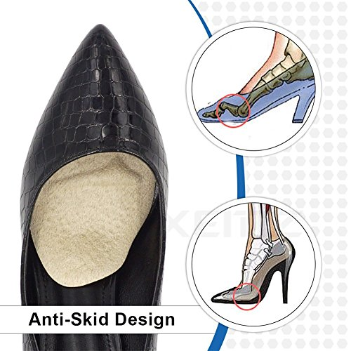 Shock Corns for Pain Heel Inserts Forefoot Absorber Protectors Metatarsal Slip of Anti Foot Cushions Khaki Calluses Gel Ball Insole High Blisters Self Massage Relief Pads Sticking B1P6Pq