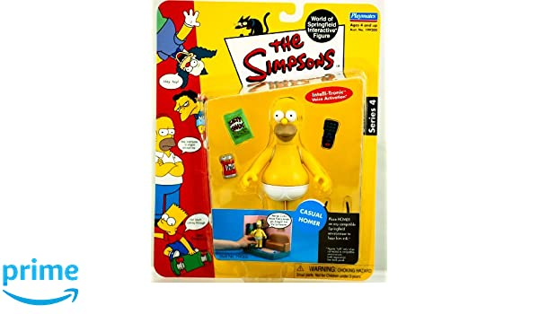 Simpsons Casual Homer Action Figure Playmates Series 4