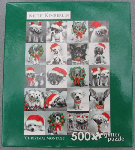Christmas Montage 500 Piece Keith Kimberlin Glitter Puzzle