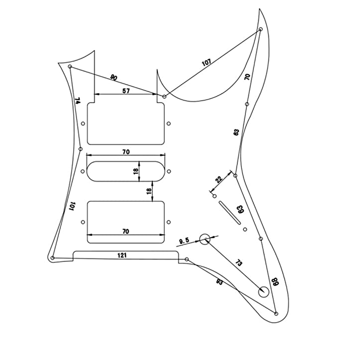 Magideal Pickguard For Ibanez Rg Guitar Pick Guard Scratch Plate