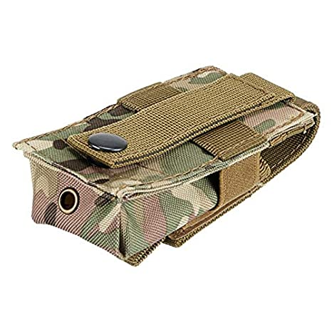 FIRECLUB Tactical Molle 14 x 5.5 Protable Travel Kit Flashlight Bag Tactical Unsex MOLLE Single Mag Pouch Belt Waist Pack Bag