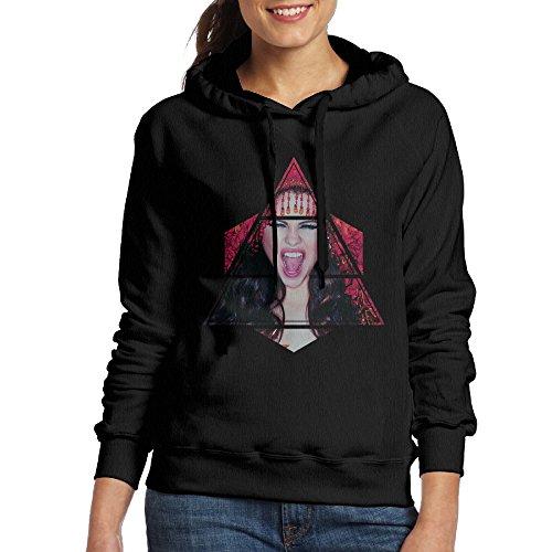 UFBDJF20 Selena Gomez Kill Em with Kindness Sweatshirt for Women XXL Black (Selena Gomez & The Scene Summers Not Hot)