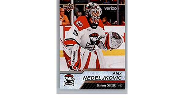 Amazon Com 2018 19 Upper Deck Ahl Hockey 12 Alex Nedeljkovic