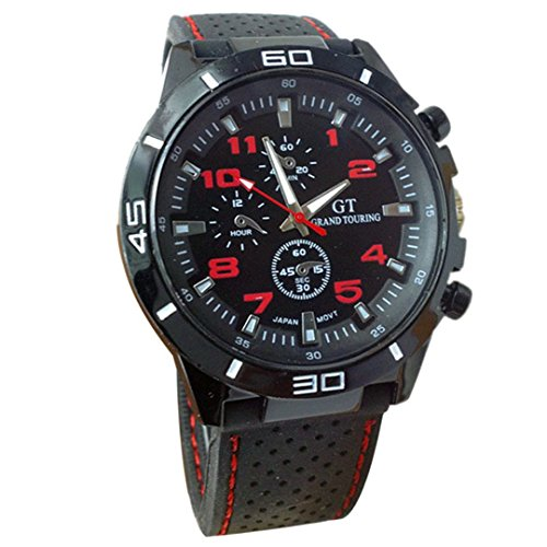 Men's Racer Military Pilot Aviator Army Silicone Sports Watch - Free Watch The Aviator