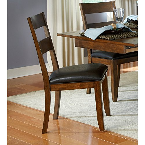 A-America Mariposa Ladder Back Dining Side Chair - Rustic Whiskey - Set of 2