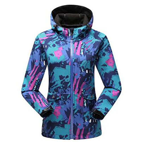 Giacca Giacche Softshell Travel Blue Spring Outdoor In Camouflage Trench Femminile Pile Sottile qnqUAX